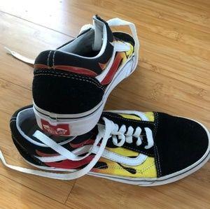 Vans flame old skool shoes Men 6.5